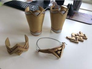 wonder woman 3D printed costume